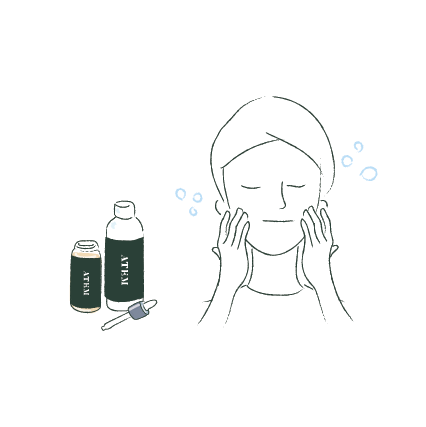 1. Start with a cleansed face. If you use additional skincare products, the mask comes after toner.